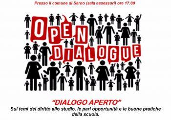 """Dialogo Aperto"" giovedì 12 ottobre alle 17.00"