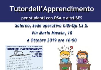 Seminario Introduttivo al corso di Tutor dell'Apprendimento per studenti con DSA e altri BES
